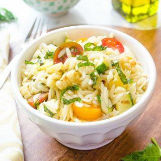 Summer Vegetable Orzo Pasta Salad