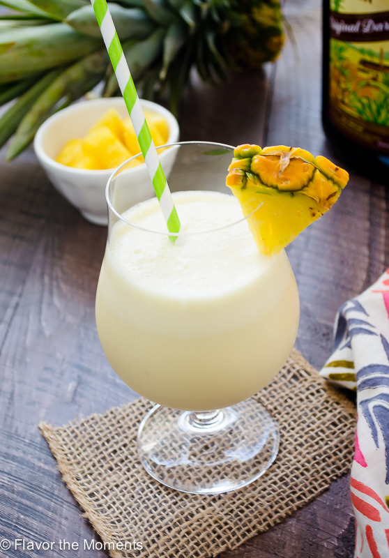 Fresh Pineapple Pina Colada Flavor The Moments