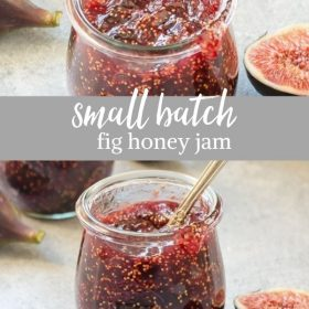 small batch fig jam recipe collage