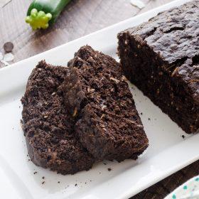 Dark Chocolate Coconut Zucchini Bread | flavorthemoments.com