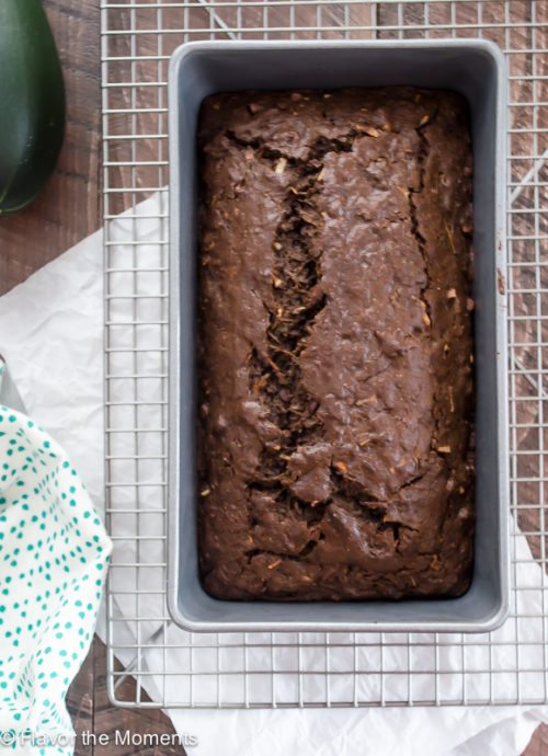 Dark Chocolate Coconut Zucchini Bread | flavorthemoments.com