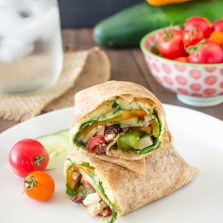 Greek Veggie Hummus Wrap and Farm Fresh To You