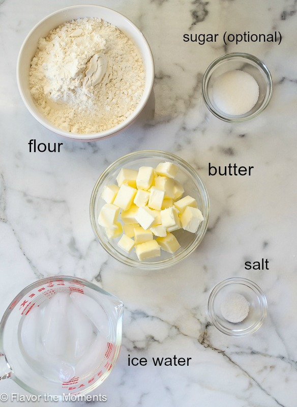 Flaky all butter pie crust ingredients