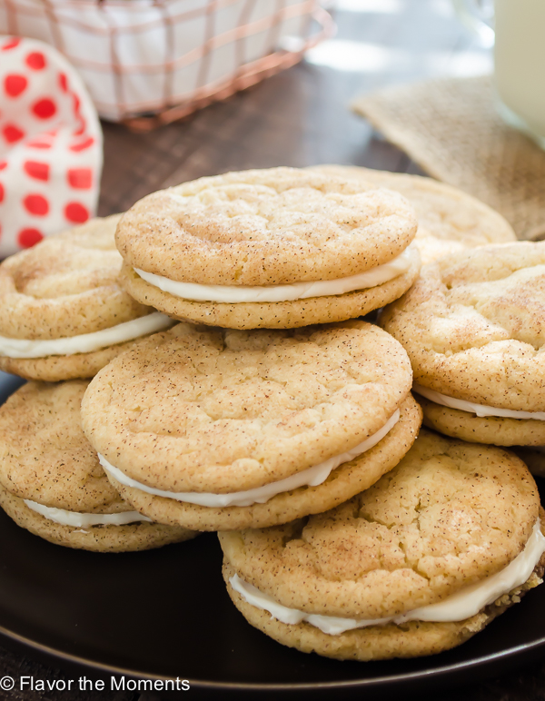 Snickerdoodle Sandwich Cookies | flavorthemoments.com