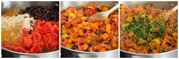 Mexican quinoa process shot 2