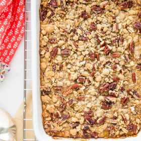 Butternut Squash Casserole with Pecan Oat Streusel | flavorthemoments.com