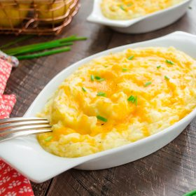 Cheesy Rosemary Twice Baked Mashed Potatoes | flavorthemoments.com