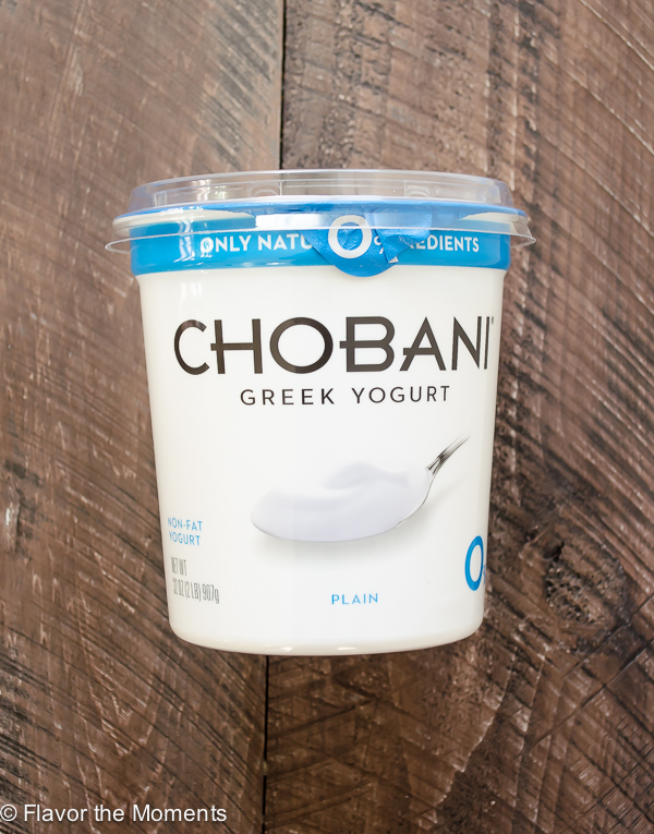 Container of Chobani yogurt