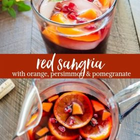 red sangria collage