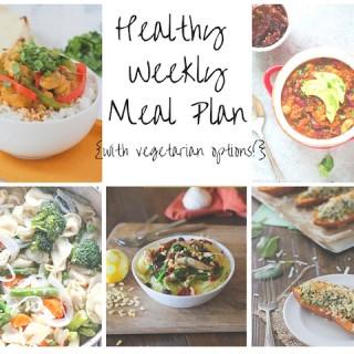 Healthy Weekly Meal Plan 2.6.2016
