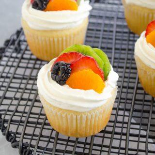 Fruit Tart Vanilla Cupcakes