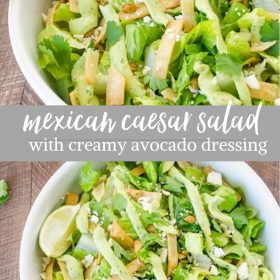 mexican caesar salad collage pin