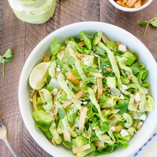 Mexican Caesar Salad with Creamy Avocado Dressing