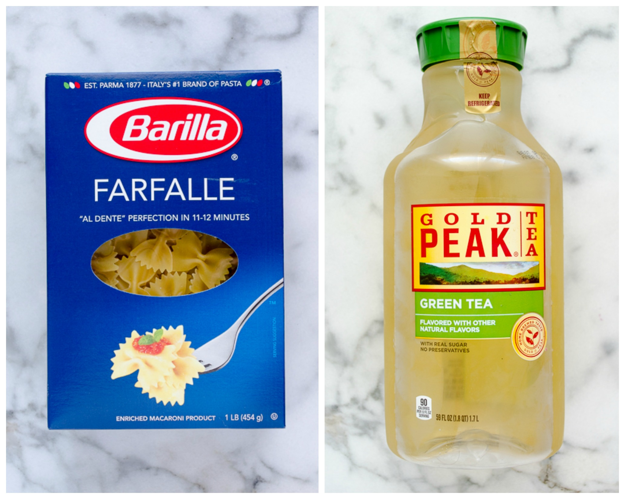 Barilla Pasta and Gold Peak Tea