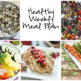 Healthy Weekly Meal Plan 7-23-2016