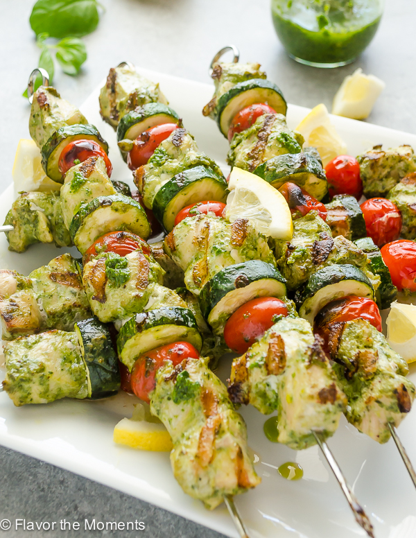 Grilled Citrus Chicken Kebabs Recipe — Dishmaps