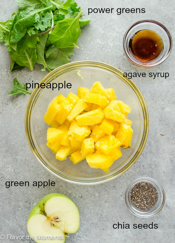 Power Green Smoothie ingredients