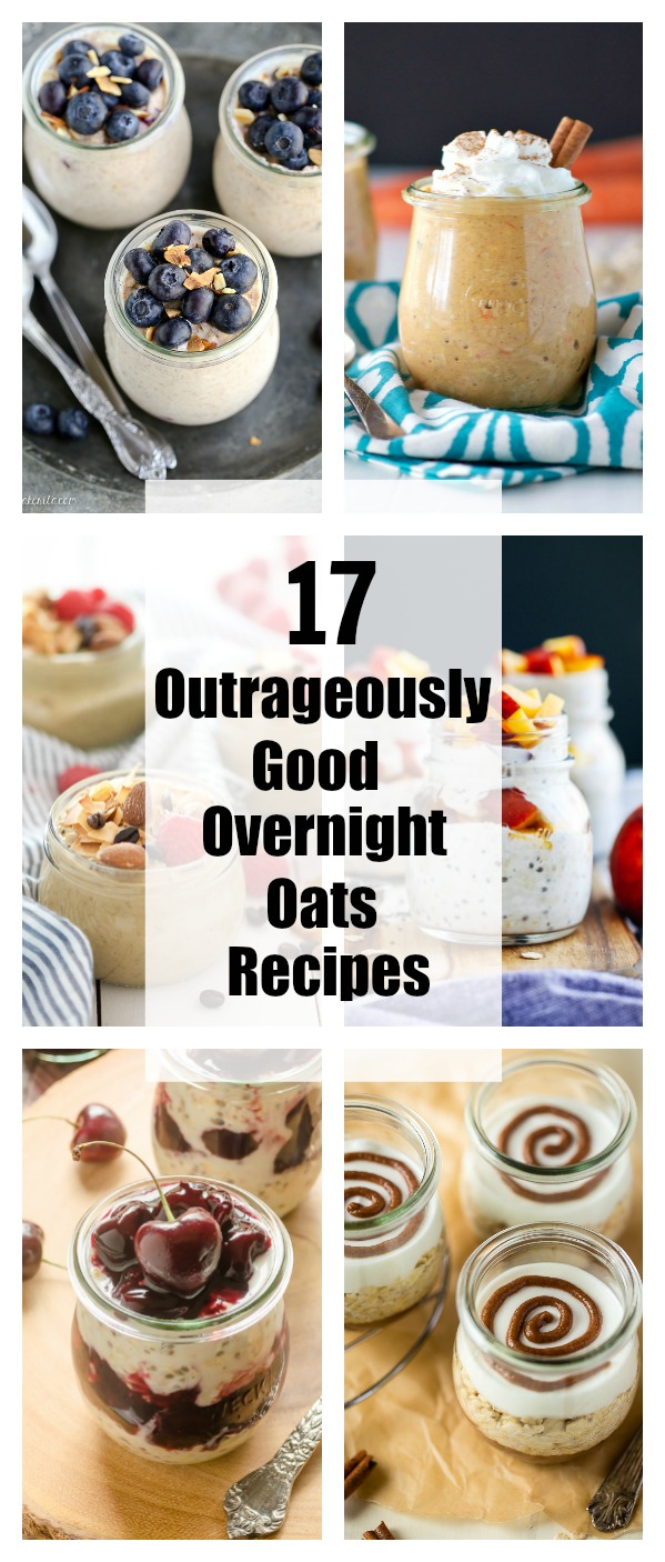 Overnight oat recipes collage