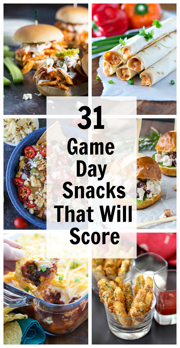 31 Game Day Snacks That Will Score