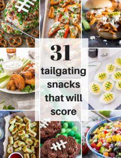 Tailgating snacks recipe collage pin