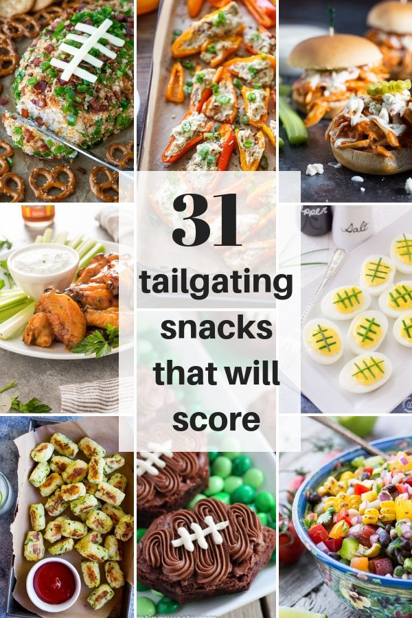 31 Tailgating Snacks That Will Score is a round up of some of the best Game Day recipes!