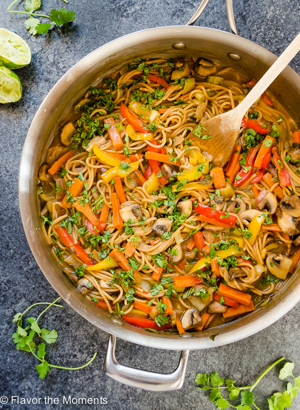 One pot thai peanut veggie pasta recipe video flavor the moments one pot thai peanut veggie pasta is whole wheat spaghetti and plenty of veggies in a forumfinder Image collections