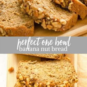 banana nut bread collage