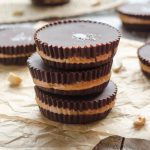 Salted Dark Chocolate Peanut Butter Cups are a healthier way to enjoy your peanut butter cups with zero added sugar and only 4 ingredients! @FlavortheMoment