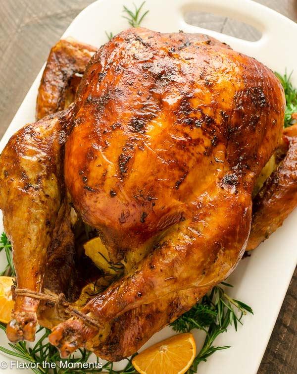 Orange Rosemary Roasted Turkey is the easy way to brine your turkey ...