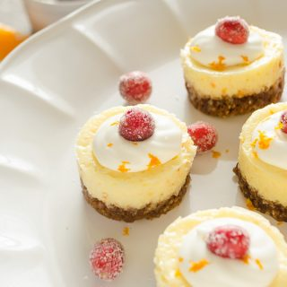 Mini Cranberry Orange Cheesecakes with Gingersnap Crust