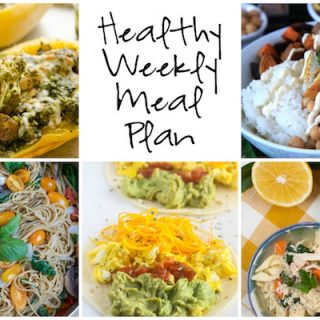 Healthy Weekly Meal Plan 1.14.2017