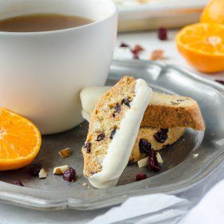 Cranberry Orange Almond Biscotti
