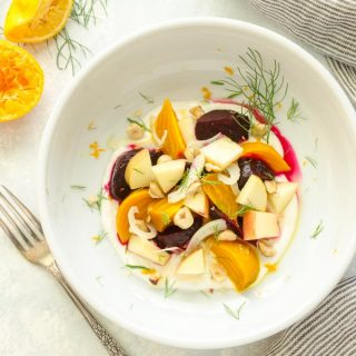Beet and Apple Salad with Citrus Honey Yogurt