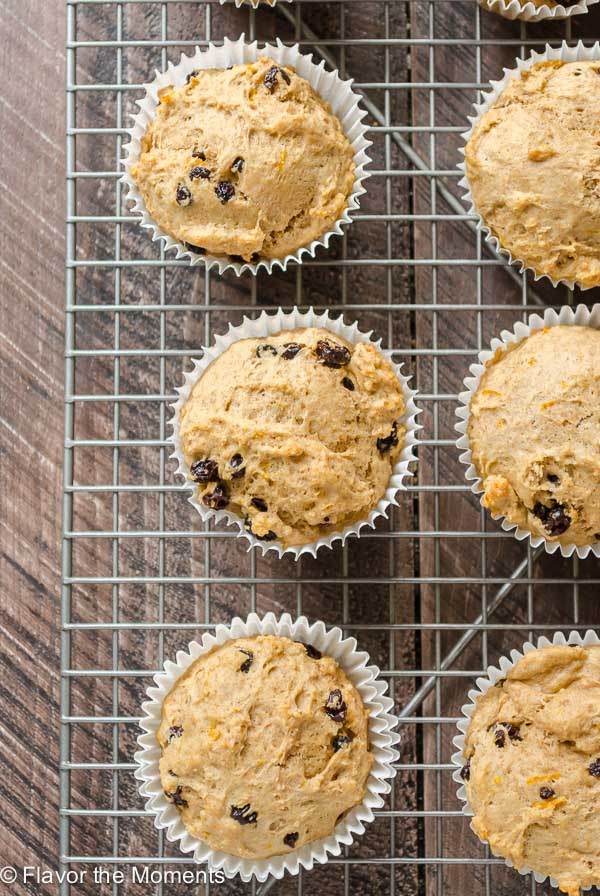 Whole Grain Irish Soda Bread Muffins are moist, mildly sweet muffins with currants and orange zest. They're an easy, healthier alternative for St. Patrick's Day! @FlavortheMoment