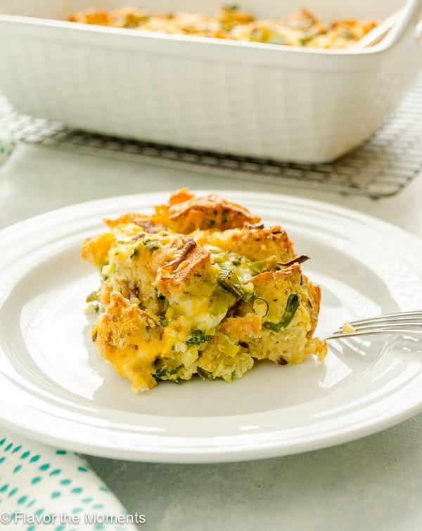 overnight cheesy broccoli strata - flavor the moments