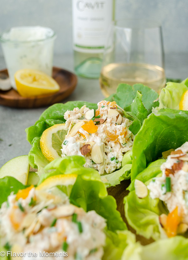 tarragon chicken salad wrap close up
