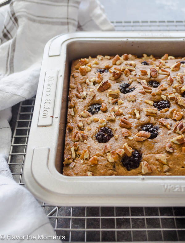 healthy snack cake in baking dish