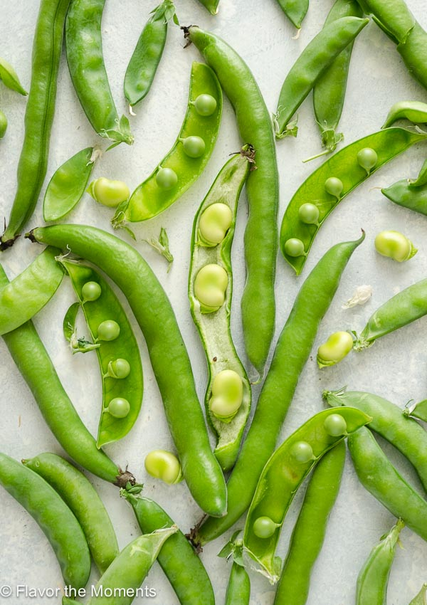 Snap peas and fava beans