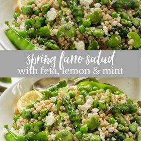 Spring Farro Salad collage
