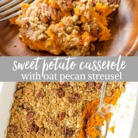 maple orange sweet potato casserole collage