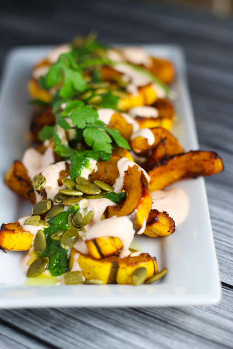 Roasted-Squash-Yogurt-Cilantro-Sauce-4