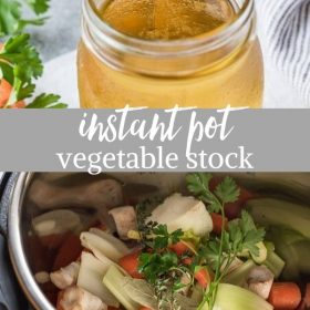 instant pot vegetable stock collage