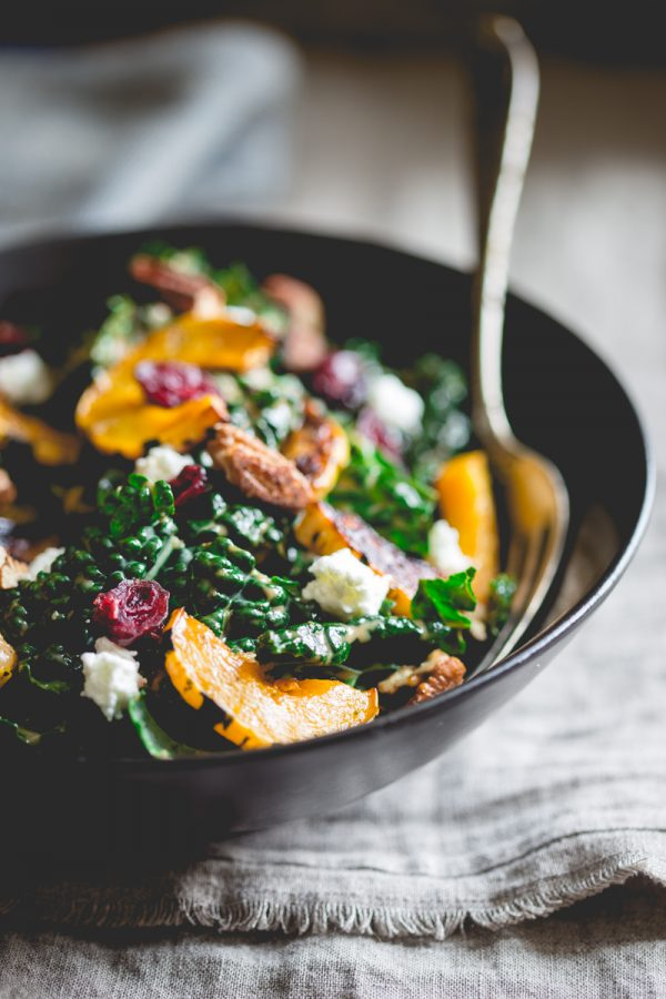 kale-salad-with-roasted-delicata-squash by Healthy Seasonal Recipes