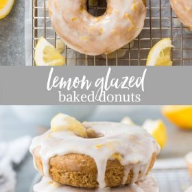 lemon donuts collage