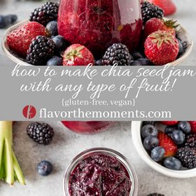 chia seed jam collage