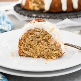 Brown Butter Hummingbird Cake is classic southern hummingbird bundt cake with a brown butter twist and a luscious cream cheese glaze!