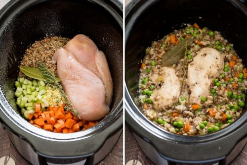 easy-crockpot-chicken-wild-rice-process-collage1-flavorthemoments