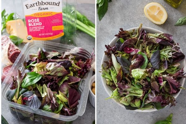 Italian chopped salad prep