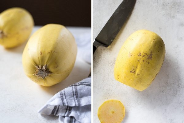 How to cook spaghetti squash collage 1