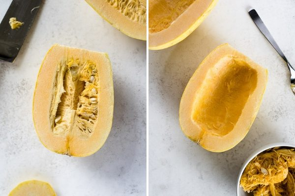 How to cook spaghetti squash collage 2